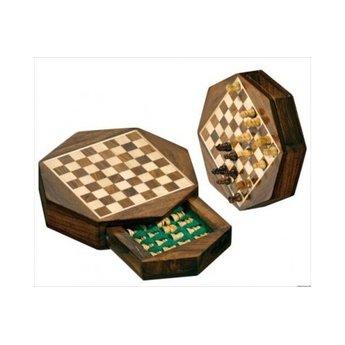 Philos Chess - Schach Travel Mini-Cassette - Octagon