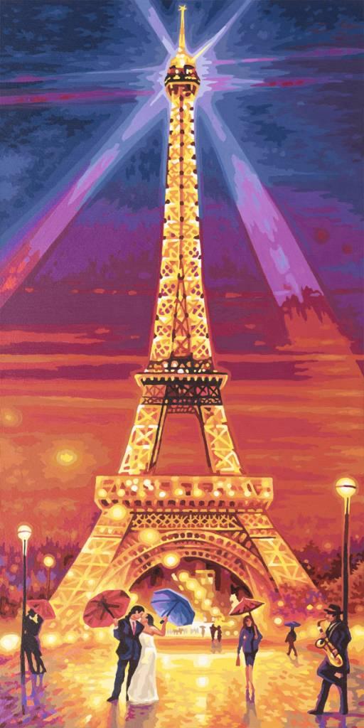 Schipper De Eiffeltoren bij Nacht