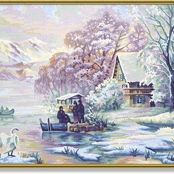 Schipper Winter at the Mountain Lake