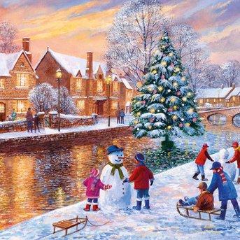 Gibsons Bourton zu Weihnachten