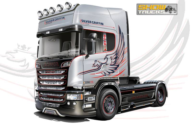 """Italeri Scania R730 V8 Streamline """"Silver Griffin"""""""