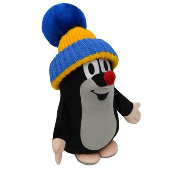 Little Mole with cap (blue / yellow) - 25cm