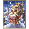 Schipper Santa Claus at the Chimney