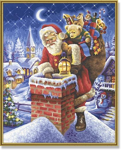 Schipper Der Weihnachtsmann auf dem Schornstein