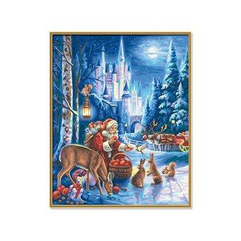 Schipper De Kerstman aan het Kasteel Neuschwanstein