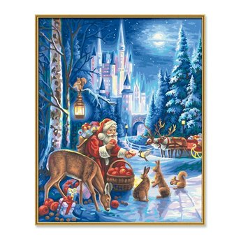 Schipper Santa Claus at the Neuschwanstein Castle