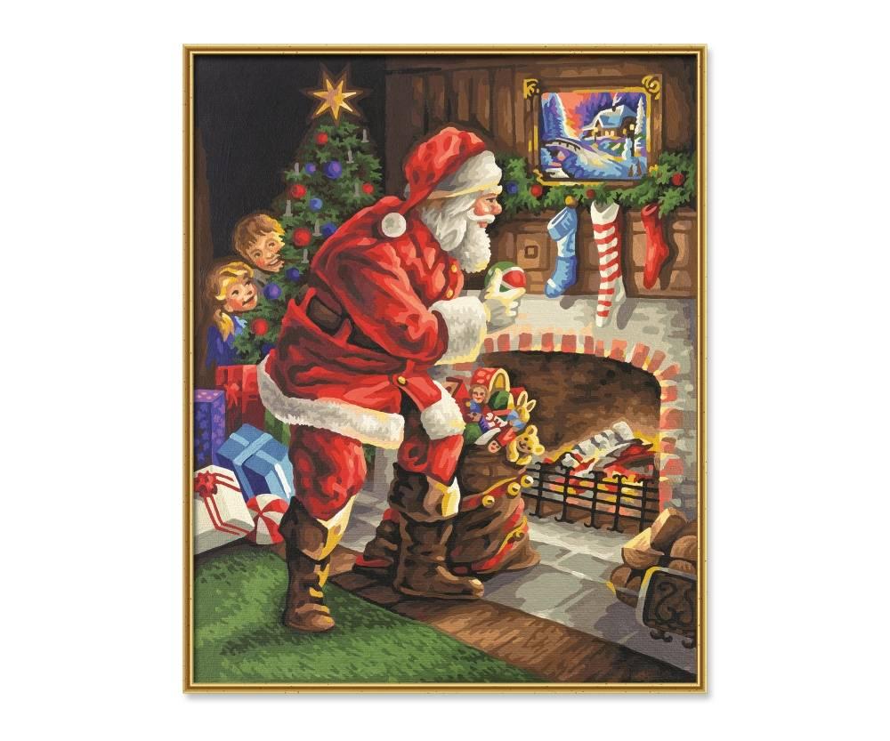 Schipper De Kerstman aan de Open Haard