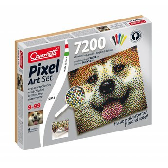 Quercetti Pixel Art - Hond - Japanse Akita