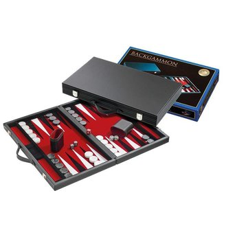 Philos Backgammon (rood, groot)