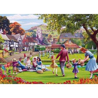 Gibsons Picknick auf dem Grün