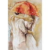 Luca-S unter Regenschirm