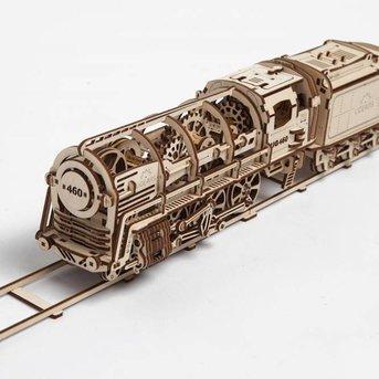 UGears Steam Locomotive with Tender