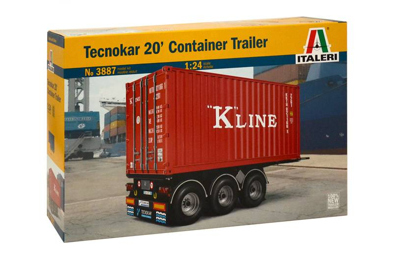 "Italeri Tecnokar 20"" Container Trailer"