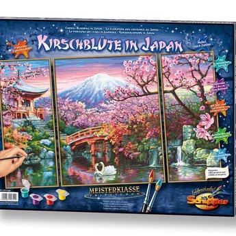 Schipper Kersenbloesems in Japan
