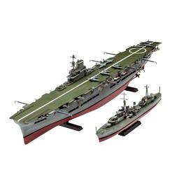 Revell Tribal Class Destroyer + HMS Ark Royal
