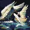 Artventura Dancing Swans