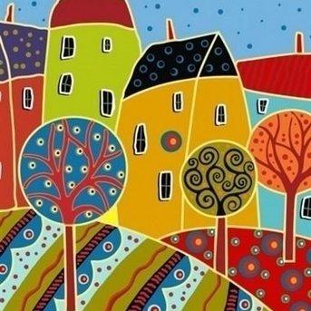 Artventura Abstrakte Häuser