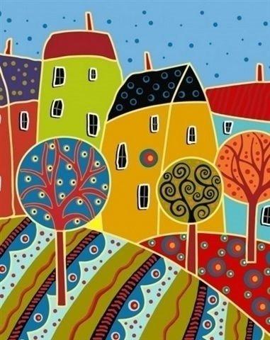 Artventura Abstracte Huizen