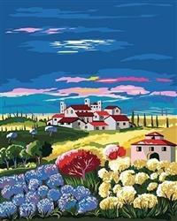 Artventura Landschap met Hortensia's