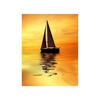 Artibalta Schip tijdens Zonsondergang