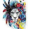 Artventura Kleurrijke Leeuw