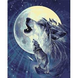Artventura Wolf in de Nacht