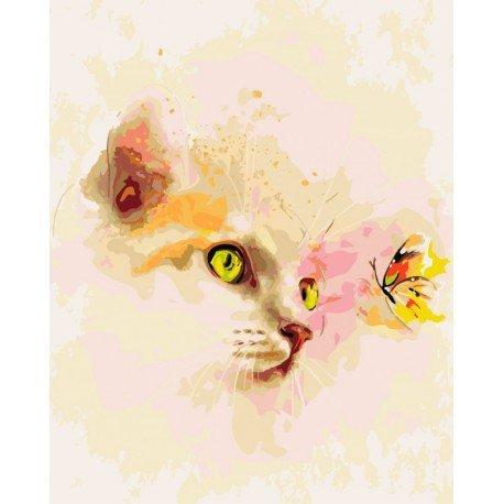 Artventura Kitten and Butterfly