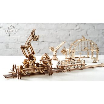 UGears Eisenbahnbau Roboter