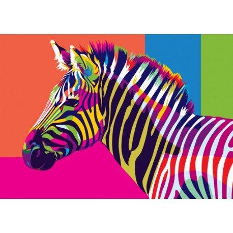 Artventura Regenboog Zebra