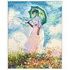Schipper Vrouw met Parasol