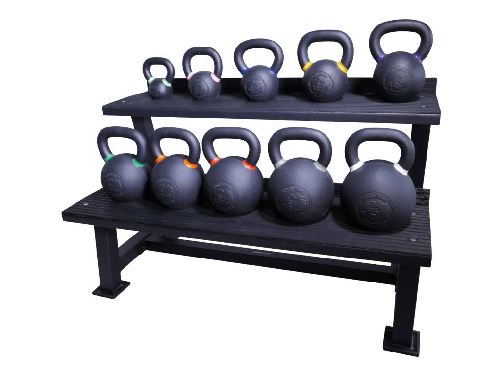 Lifemaxx® LMX1145 Crossmaxx® kettlebell rack (black) (available end of June)