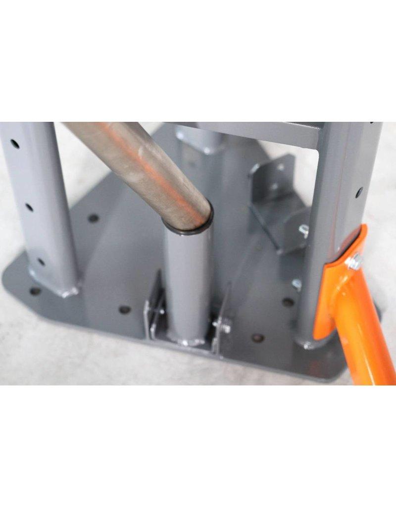 Lifemaxx® LMX1868 FR Olympic bar storage (grey/orange)