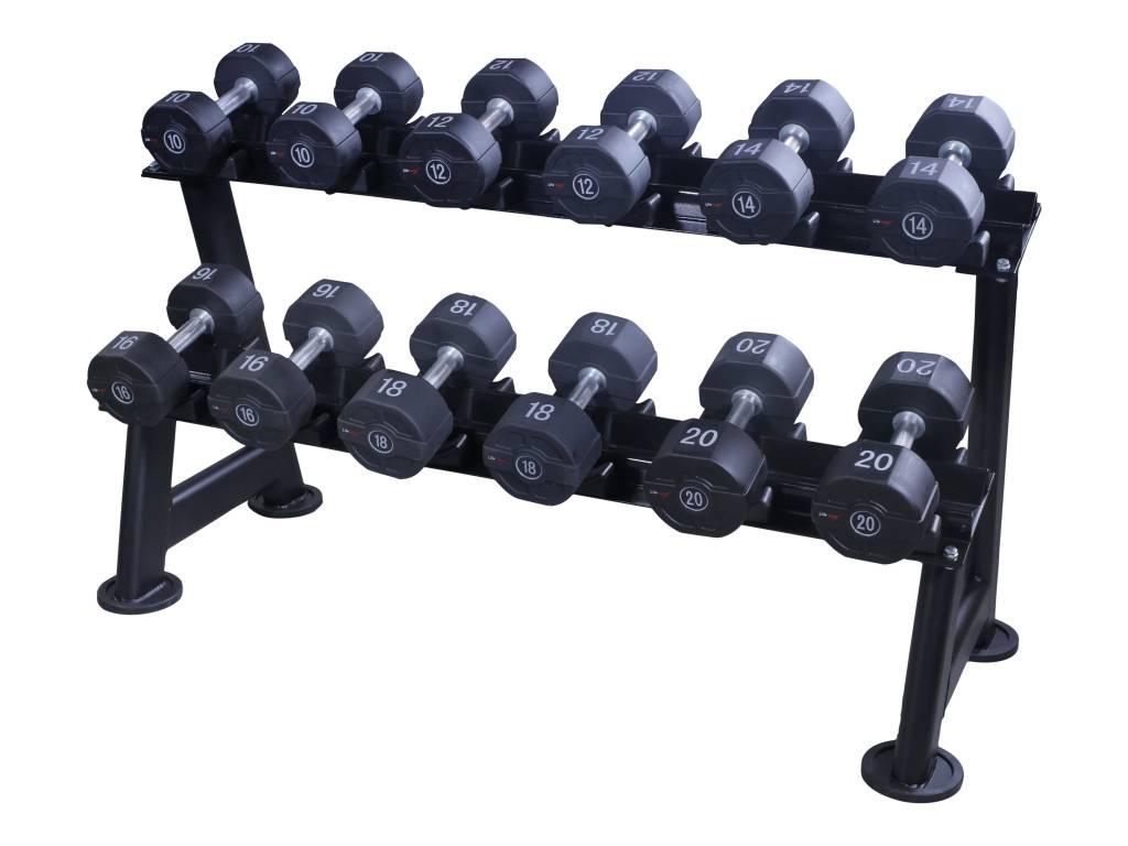 Lifemaxx® LMX1012 Dumbbellrack - black (5 - 20 sets)