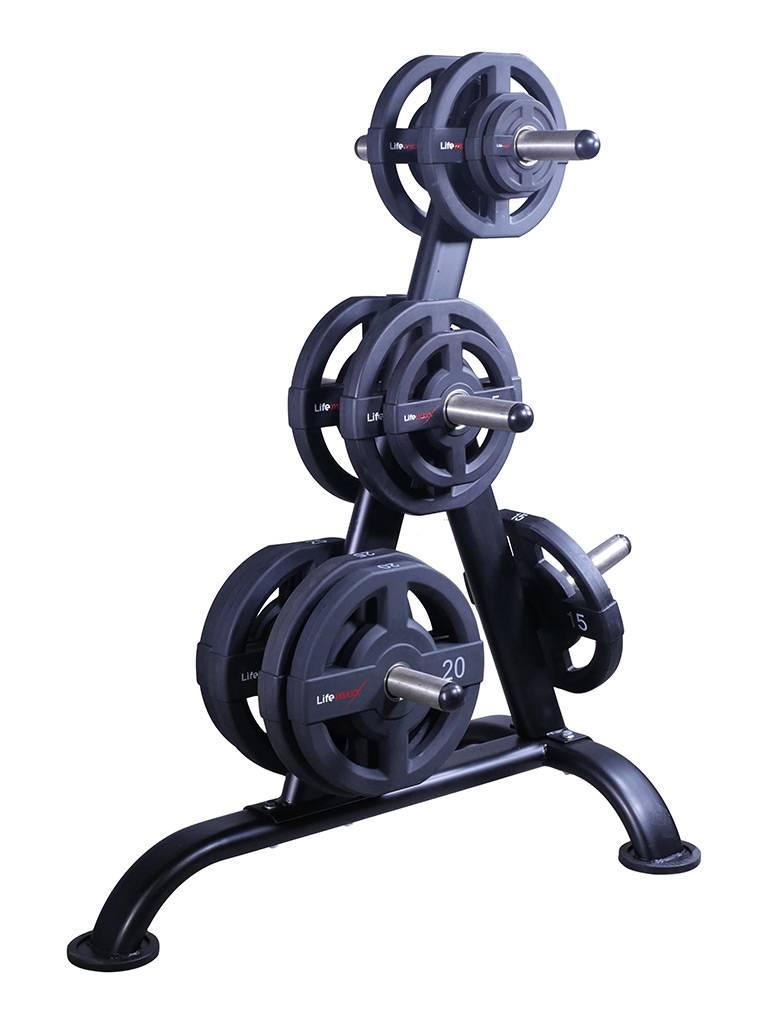 Lifemaxx® LMX1030W Weightplate rack for 50mm discs (black)