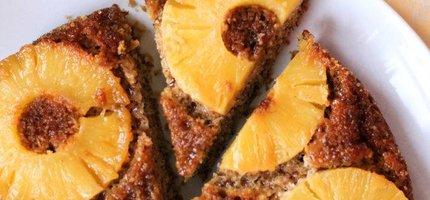 Upside down ananas cake