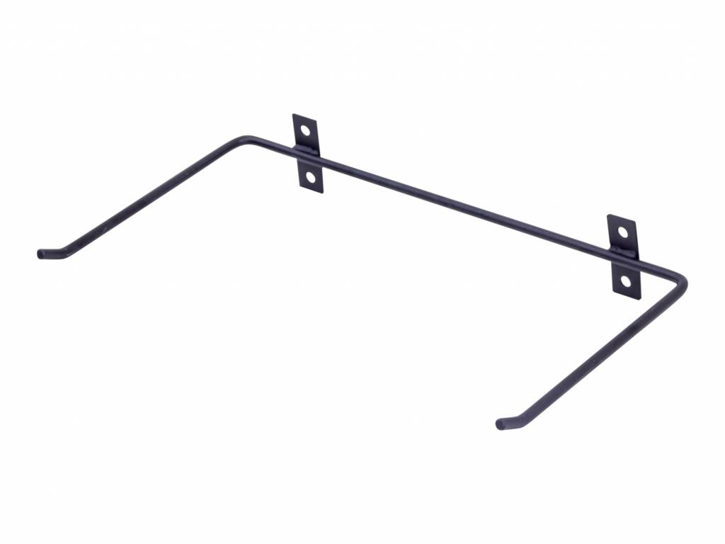 Lifemaxx® LMX1225 Aerobic mat wall rack. For 10 mats (steel frame) (black)