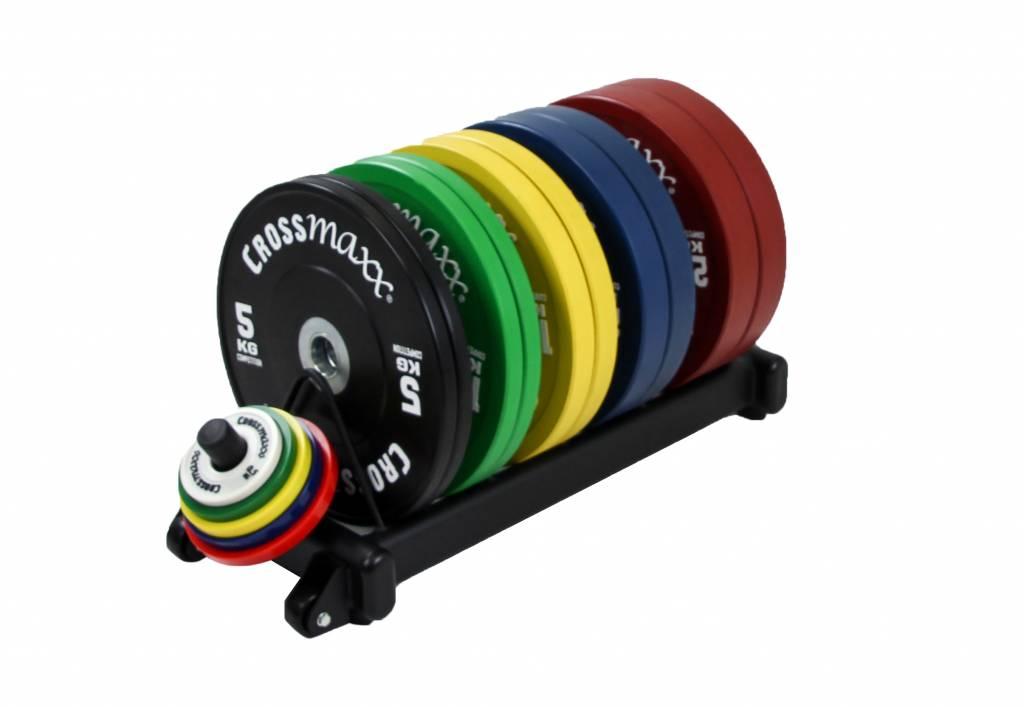 Lifemaxx® LMX1031 Crossmaxx® bumper plate rack (black)