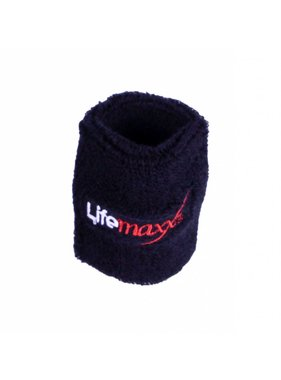 Crossmaxx® LMX1816.L Lifemaxx® sweatband 75 x 75 mm (black)