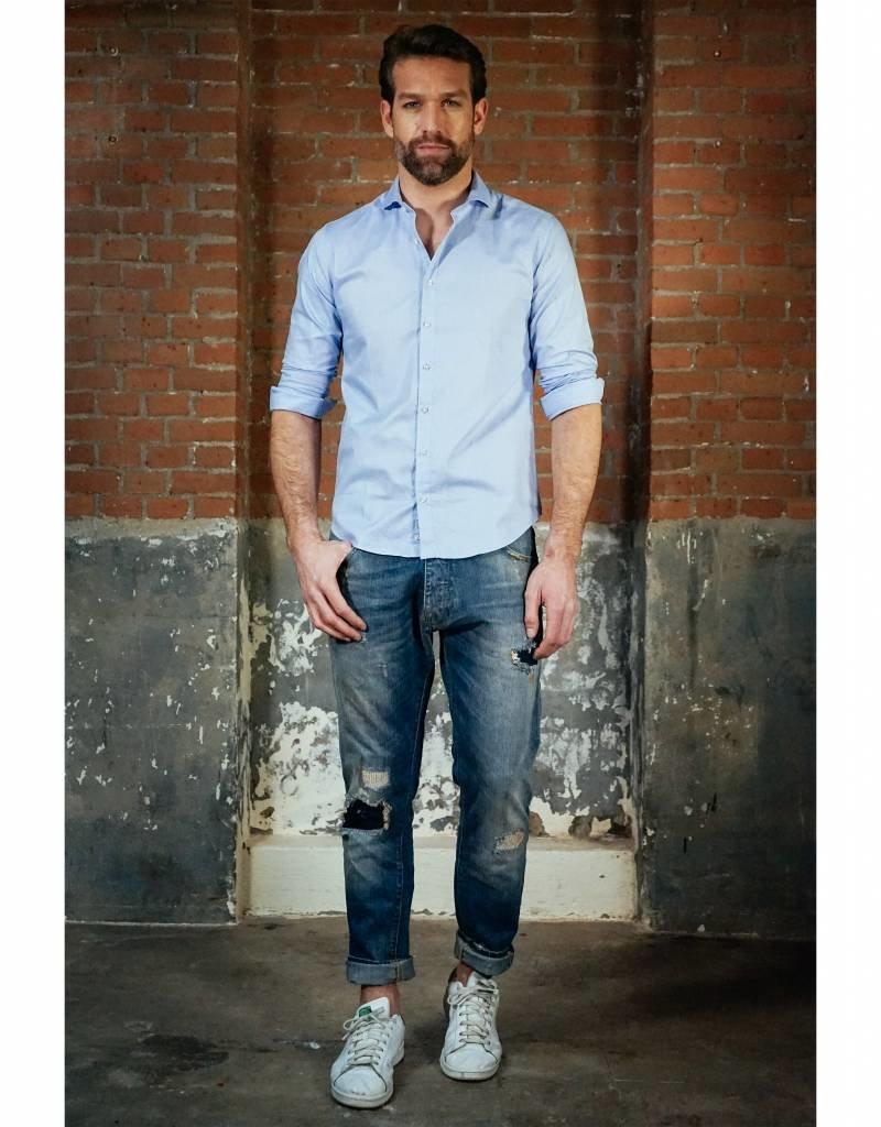 Good Genes His Shirt - Long Sleeve Light Blue