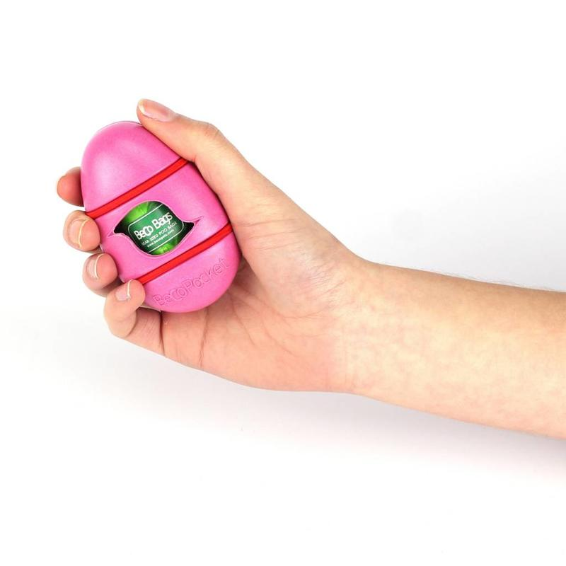 Becopocket poepzakjeshouder roze