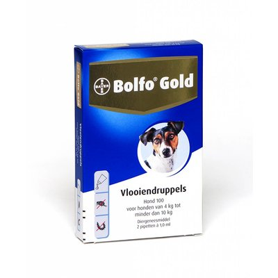 Bolfo Gold hond 100 (2 pipet)