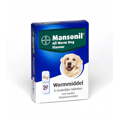 Mansonil All Worm Dog Flavour 6 Tabletten