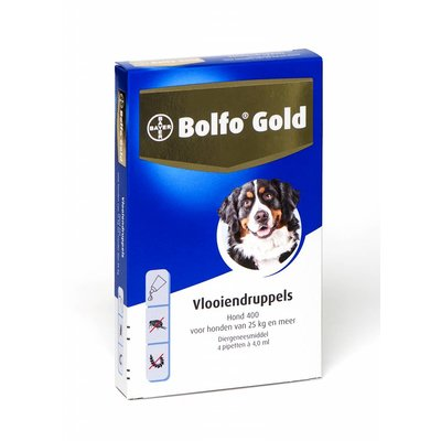 Bolfo Gold hond 400 (4 pipet)