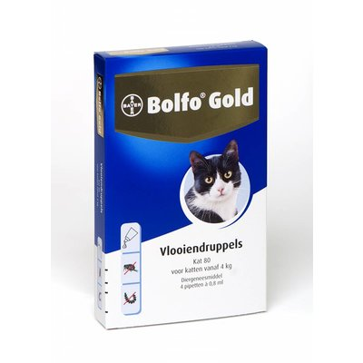 Bolfo Gold kat 80 (4 pipet)