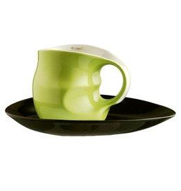 Colani Porzellanserie Colani Kaffee-/Cappuccinotasse 2-tlg. grün