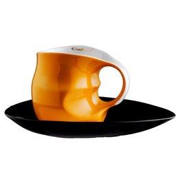 Colani Porzellanserie Colani Kaffee-/Cappuccinotasse 2-tlg. orange