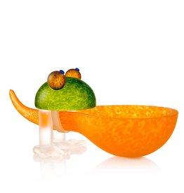 Borowski Glasstudio Frosch, Schale orange