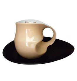 Colani Porzellanserie Colani Kaffee-/Cappuccinotasse 2-tlg., sand