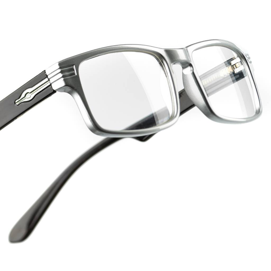 High-gloss Readingglassesbox in the colour black including 4 pairs of reading glasses with different strengths (1.0, 1.5, 2.0, 2.5)