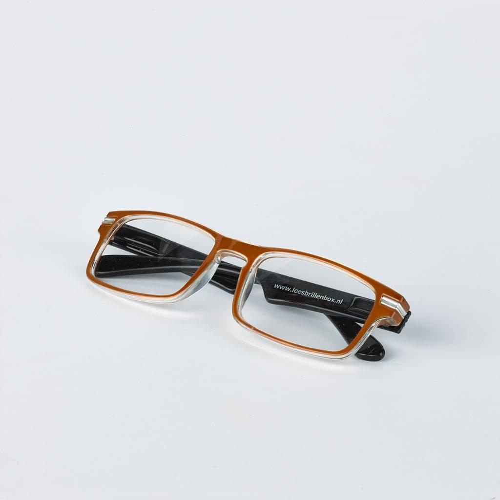 Reading glasses, brown/black.